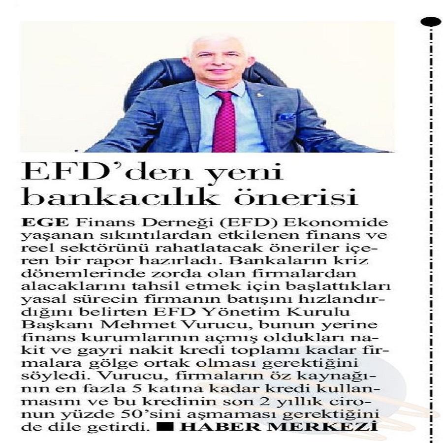 EFD DEN YENİ BANKACILIK ÖNERİSİ - İlk Ses